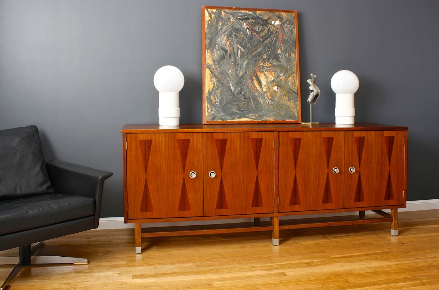 Maple With Rosewood Inlay Credenza Made By The Stanley Furniture Company Of High  Point, North