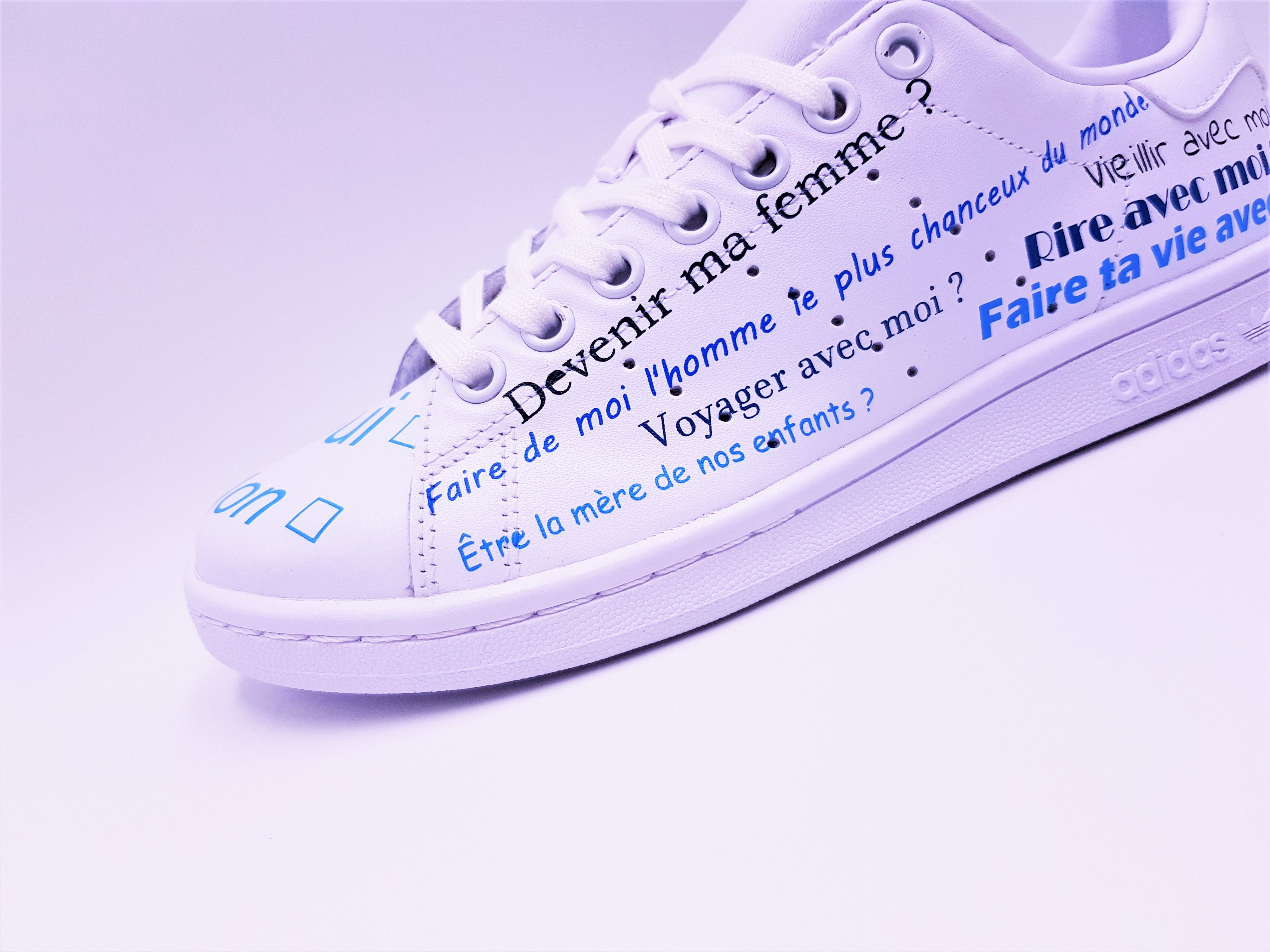 Adidas Stan Smith Just Married Boho Double G Customs