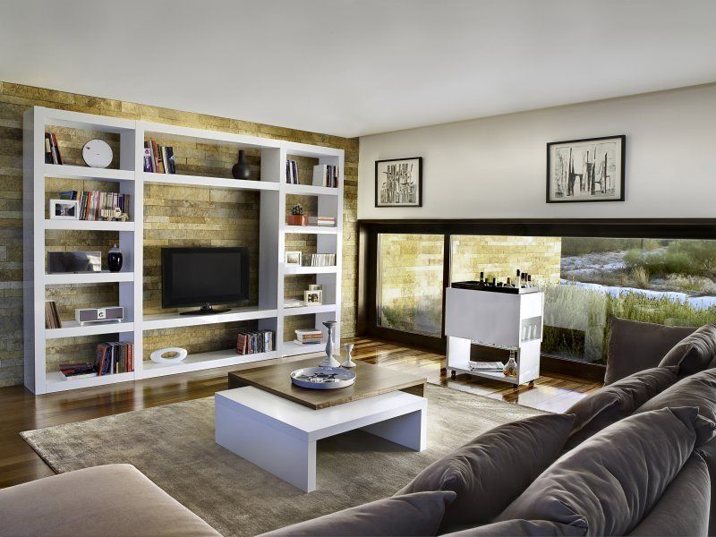 Decoration D Interieur Moderne Meubles TV Bibliotheque On ...