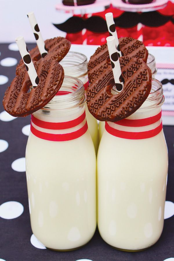 bowling pin milk & cookie shooters!