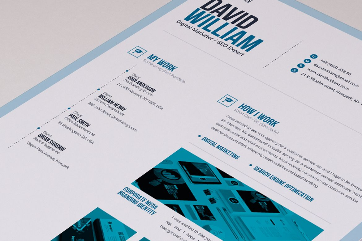 Job / CV Builder with ms word Resume Template 66172