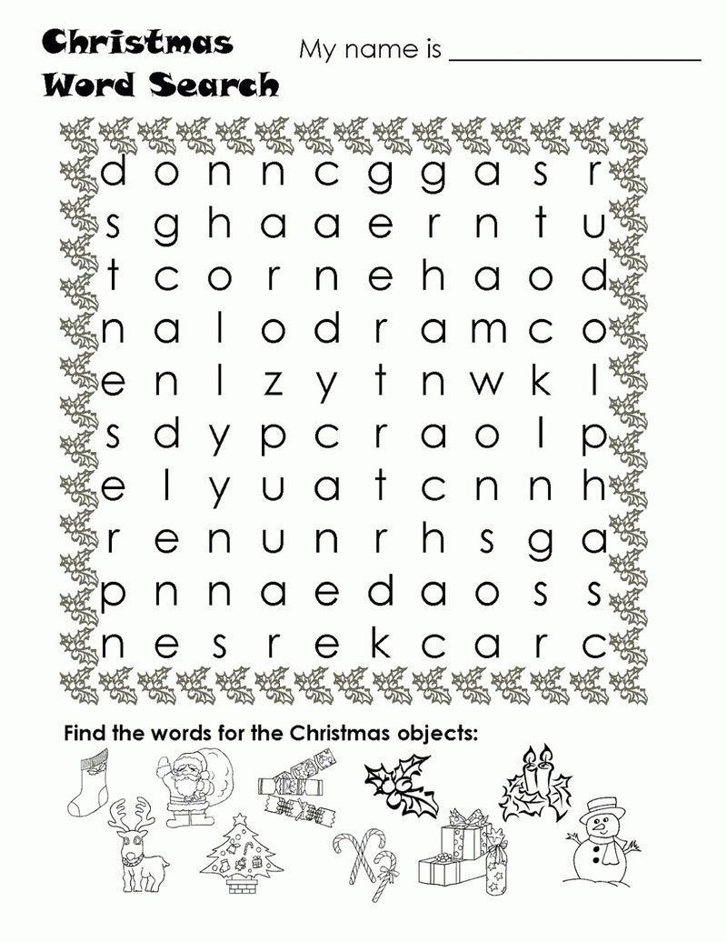 Kids Word Searches Christmas See The Category To Find More