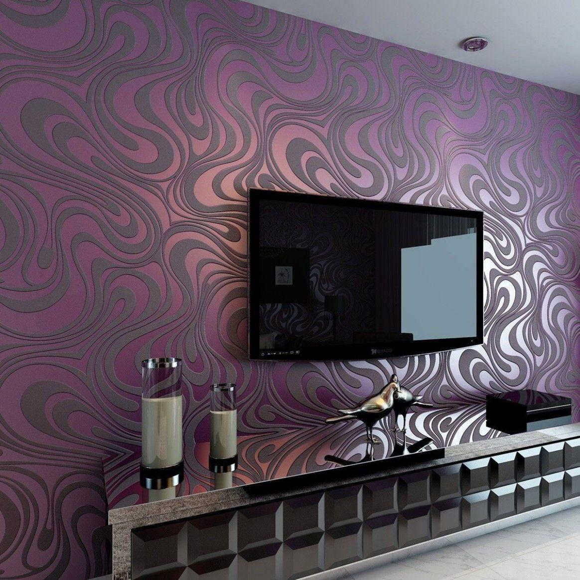 Wallpaper For Living Room Modern Uk Em 2020 Papeis De Parede Papel De Parede Quarto Papel De Parede Roxo