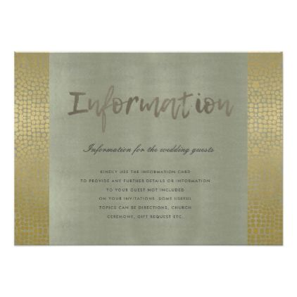 GLAMOROUS GOLD GREY DOTS MOSAIC INFORMATION CARD - pattern sample - Sample Cards