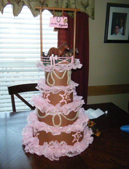 Girls diaper cake