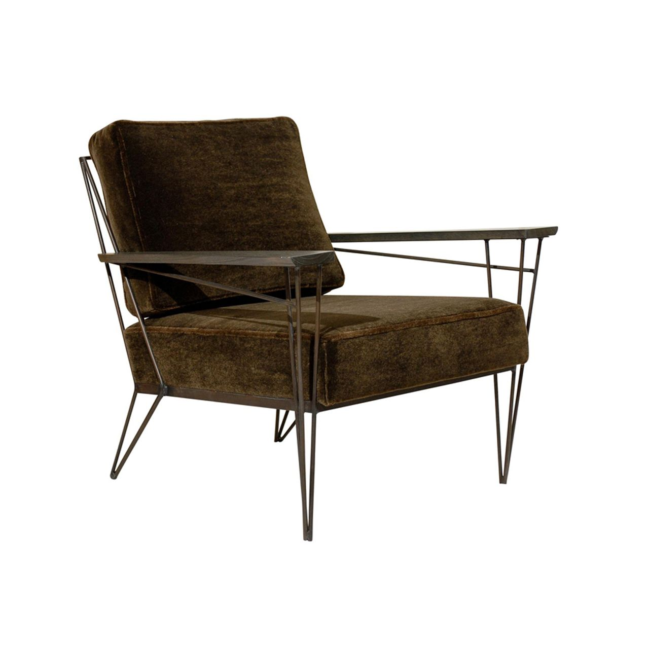 Brown Mohair Lounge Chair @ Pieces