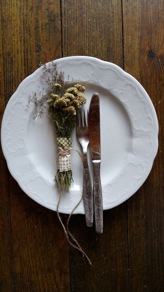 rustic botanical table decor dried flowers small by goodieshill