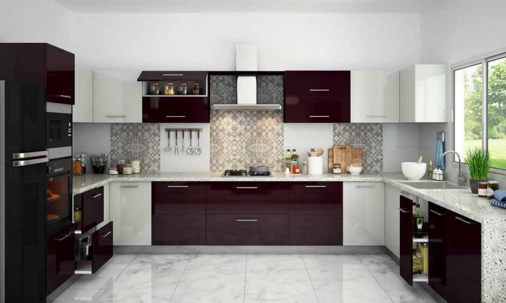 10 Kitchen Hood Ideas 2021 As Healthy And Thematic Spot Indian Style Kitchen Design Kitchen Cabinets Color Combination Kitchen Design Color