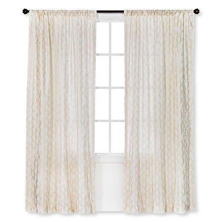 ThresholdTM Metallic Printed Broken Vine Curtain Panel
