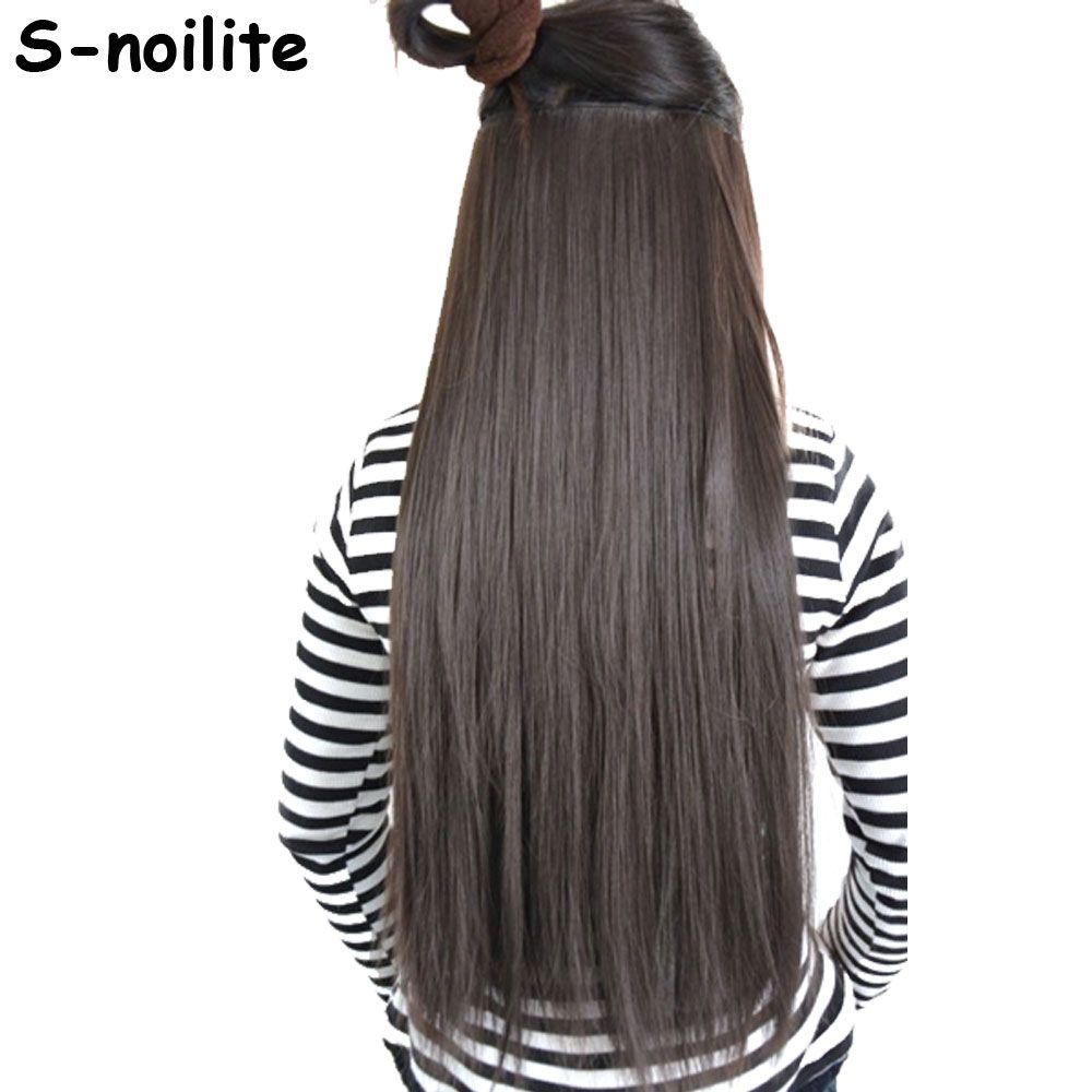 Snoilite us shipping inches clip in hair extensions full