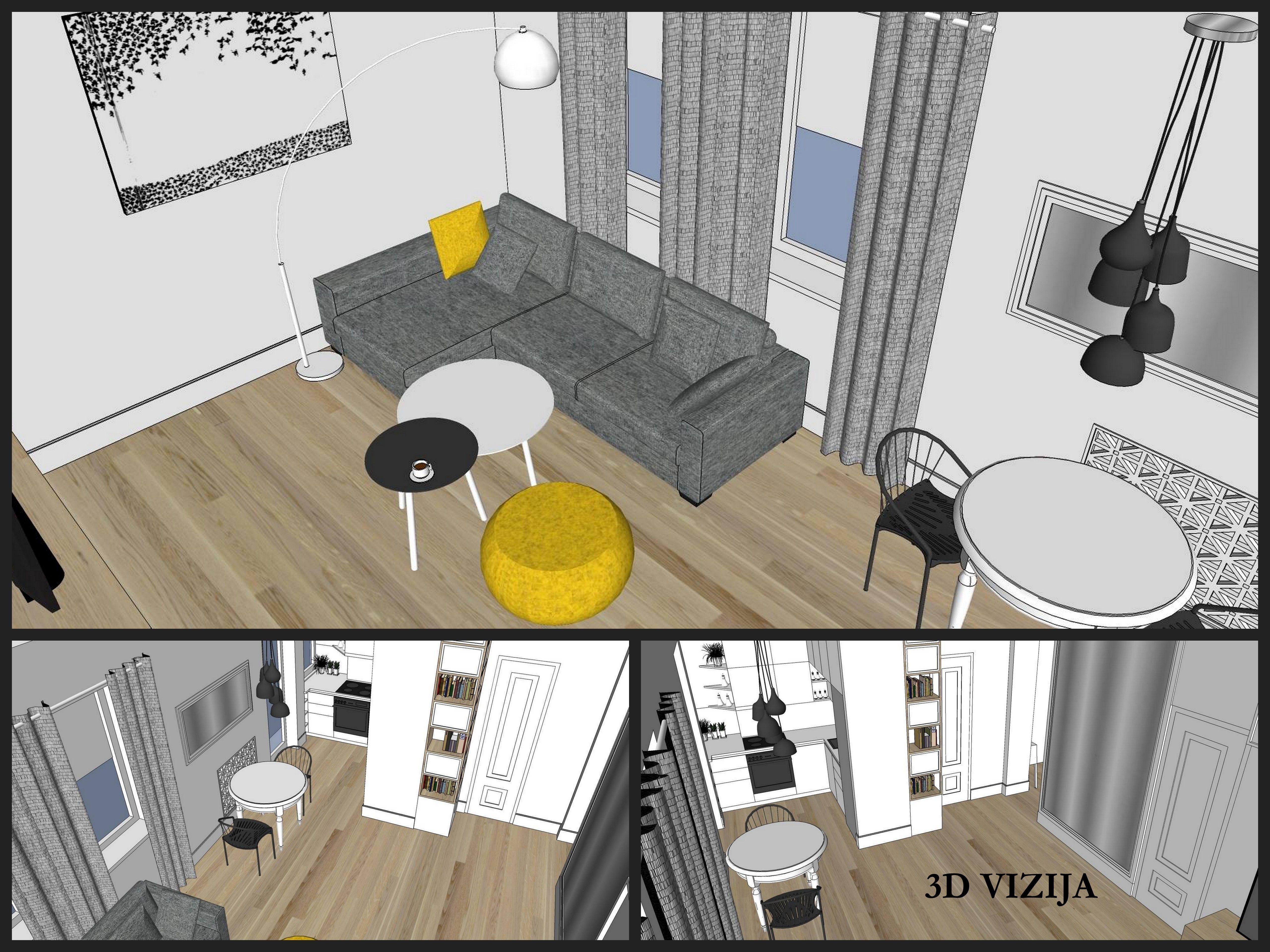 3D kambario vizija
