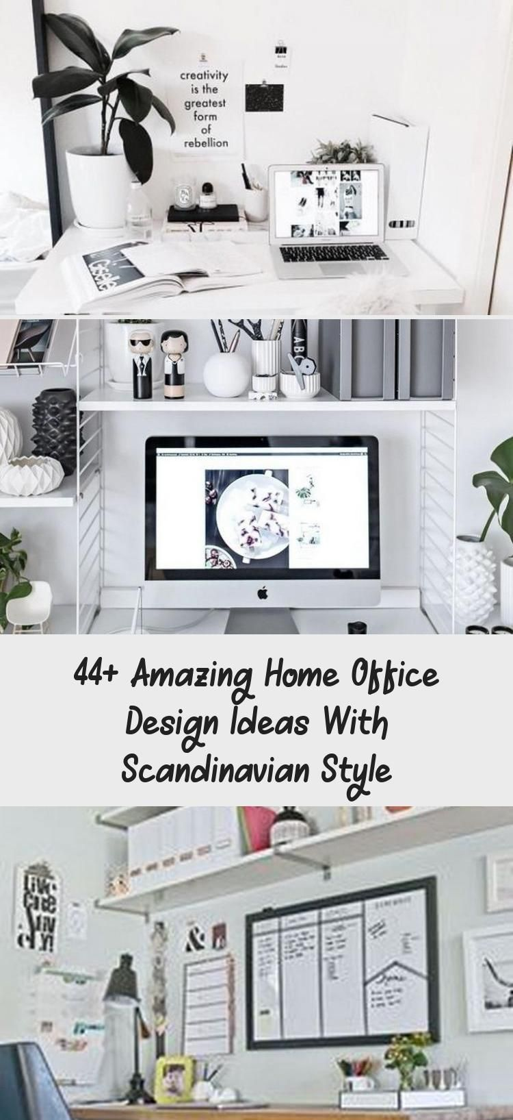 44 Amazing Home Office Design Ideas With Scandinavian Style Bilgi Tahtasi 44 Amazing Home Office Desig In 2020 Office Inspiration Office Design Home Office Design