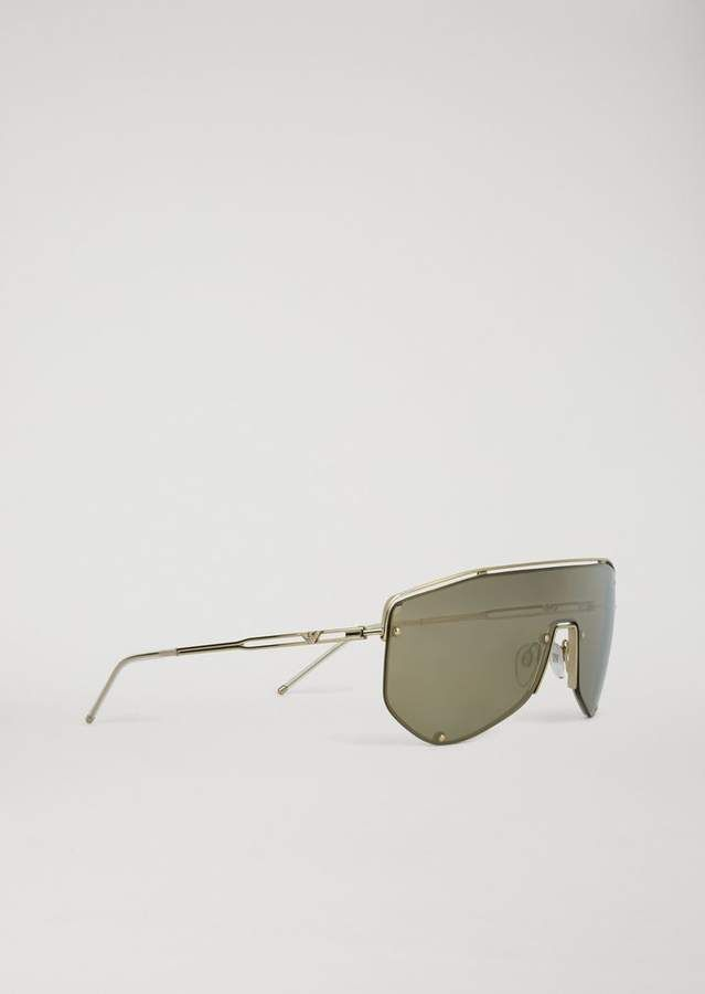 aab7802b343 Emporio Armani Catwalk Man Sunglasses With Mask-Style Lenses ...