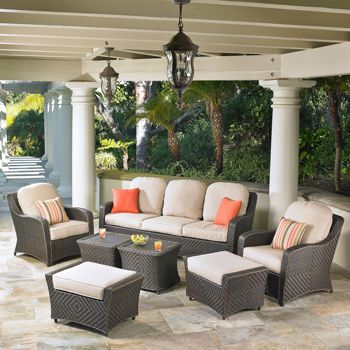 Charming Canyon Park 7 Piece Patio Deep Seating Collection By Mission Hills®
