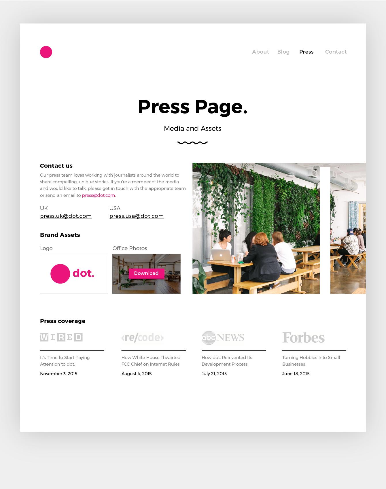 51 Press Page 01 Png By Irene Georgiou Design Inpiration Web Design Inspiration Pressing