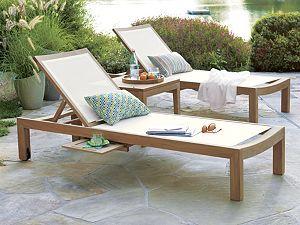 Regatta Natural Mesh Chaise Lounge Teak Outdoor Furniture