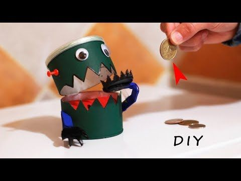 DIY Robot Bank - How to Make a Fun Robot Eats Coins - YouTube - how to make halloween decorations youtube