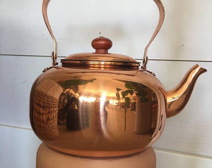 Hervidor de cobre viejo holandés / / tetera / / país cocina ...