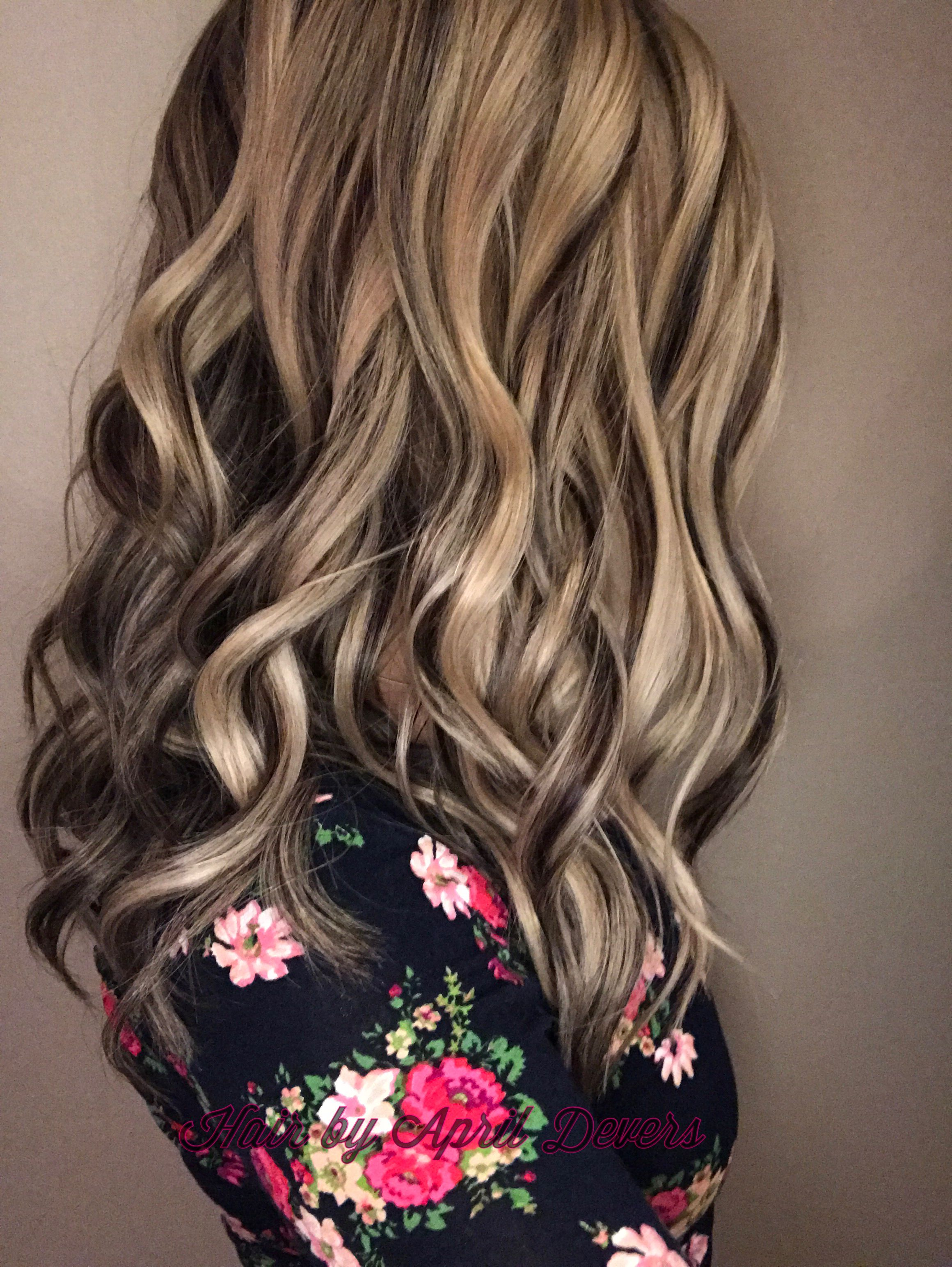 Platinum blonde with dark chocolate lowlights! Hair by ...