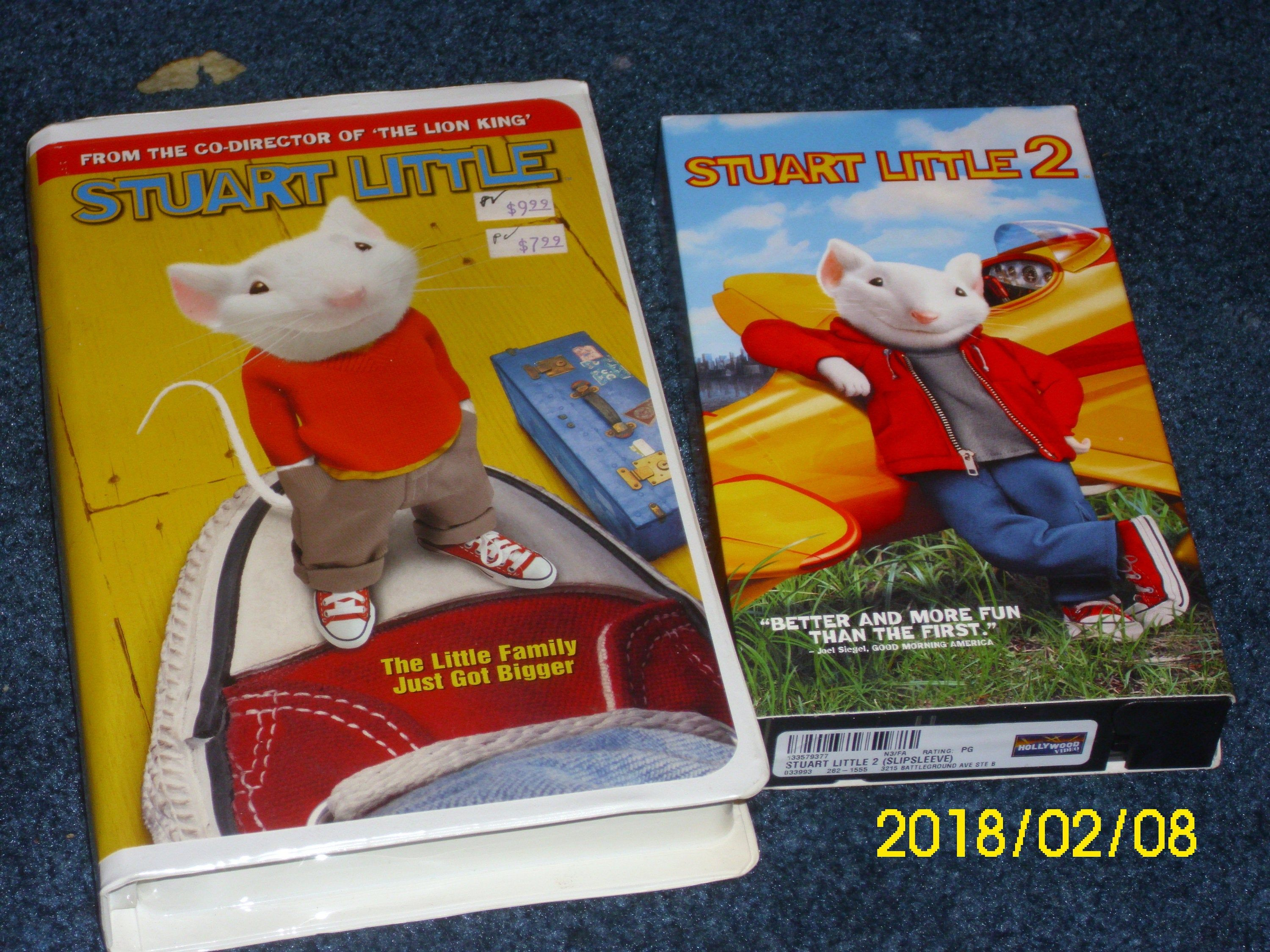 Movie Stuart Little 1 2 Vhs Family Film Directed By Rob Etsy Stuart Little Columbia Pictures Geena Davis