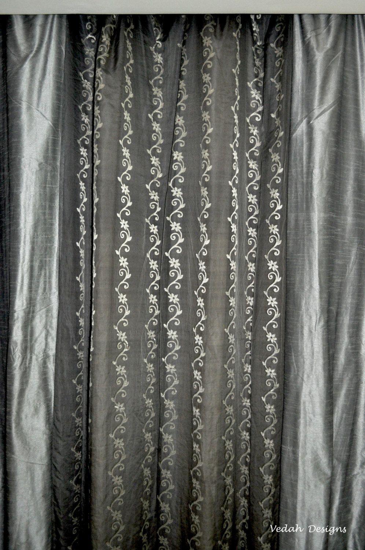Custom drapes indian curtains sheer drapes window drapes