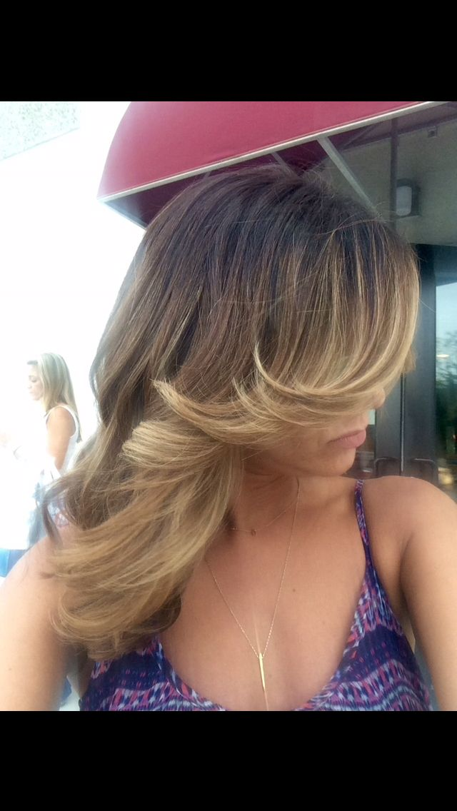 Blonde Ombr Highlights On Dark Brown Hair Lived In Color Ombr
