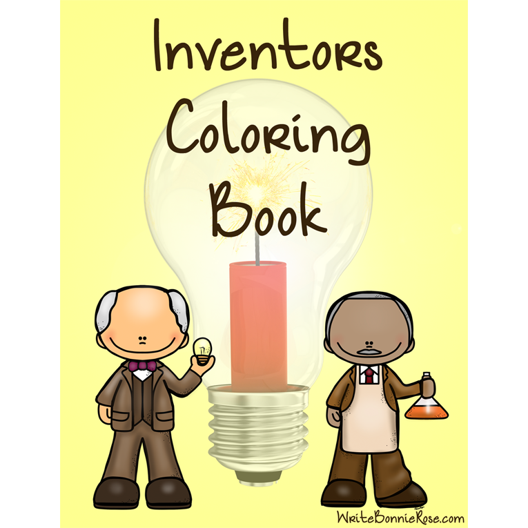 Inventors Coloring Book. Fourteen coloring pages with large print ...