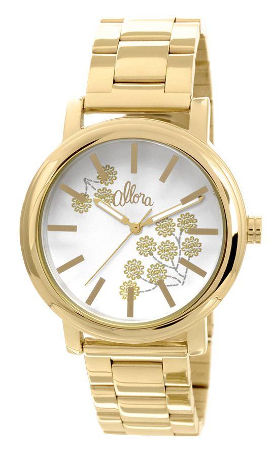8438f0ee6a9 Relógio Allora Feminino Bordados Dourado AL2036CH4B
