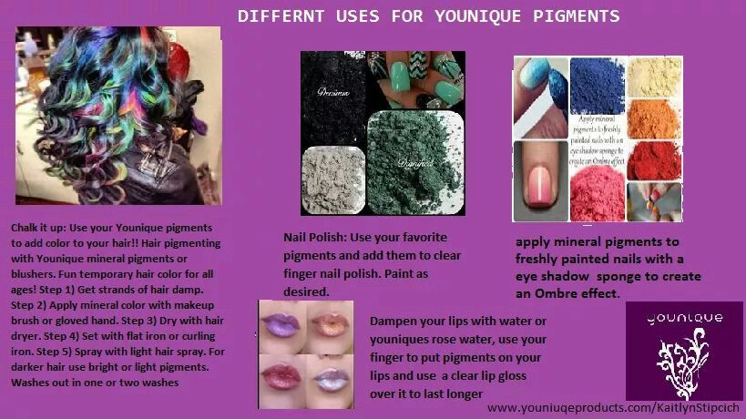 Love all the stuff you can do with youniques mineral pigments!!