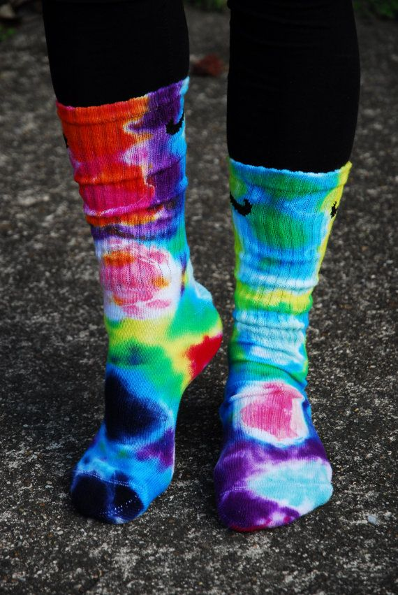 7ae7fd11e ****Psychedelic Tie Dye Nike Crew Socks**** This Pair of socks is So  Totally Awesome, Amazing, Radical, Colorful, Cool, and fun!!! I cant say