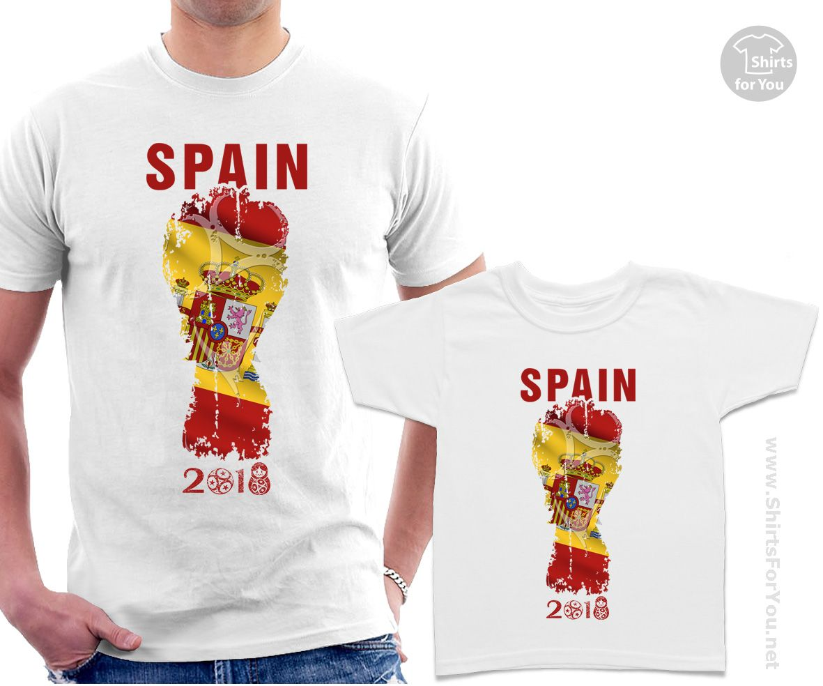 0955c6e767b Spain Football Fan Matching T-Shirts