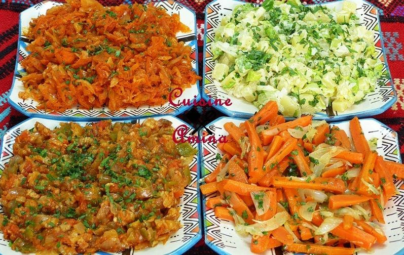 تحضير سلطات مغربية متنوعة سهلة ولذيذة Food Chicken Meat