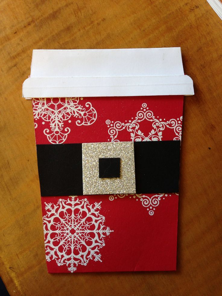 Really cute Gift Card Holder - can put a Christmas Starbucks card ...