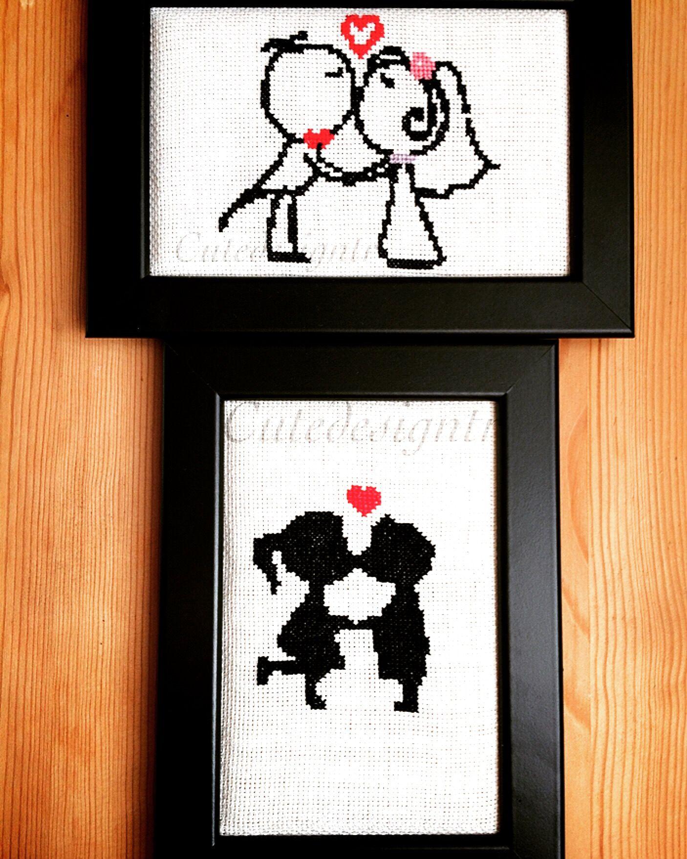 Valentine day cross stitch  Cutedesigntr