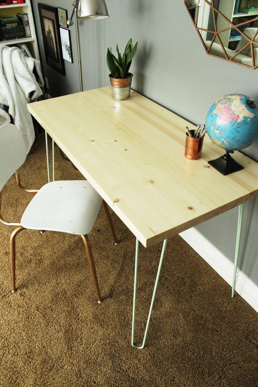 Diy contemporary hairpin leg desk hairpin leg desk