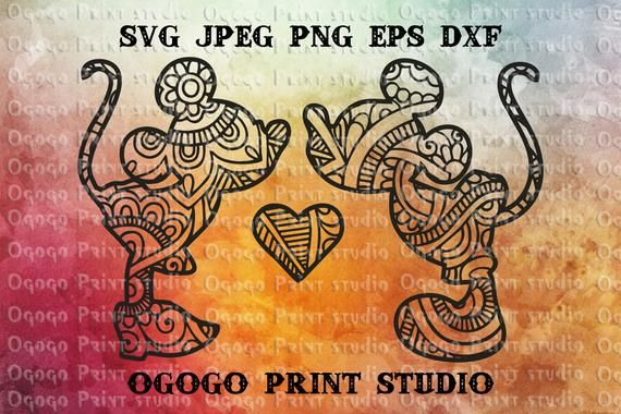 Mickey Mouse SVG, Zentangle SVG, Minnie Mouse Svg, Doodle