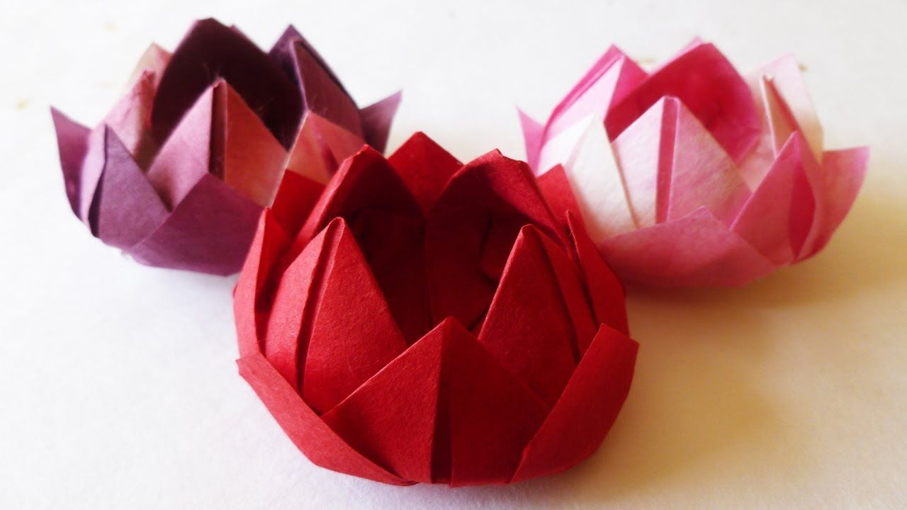 Japanese Traditional Origami WATER LILY LOTUS FLOWER