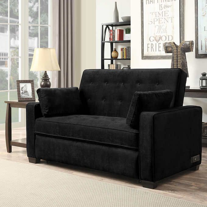 Stupendous Westport Fabric Sleeper Loveseat Black Remodel Ideas Squirreltailoven Fun Painted Chair Ideas Images Squirreltailovenorg
