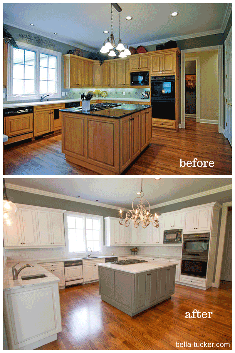 Painted Cabinets Nashville Tn Before And After Photos Brown Kitchen Cabinets Kitchen Cabinets Before And After Refacing Kitchen Cabinets