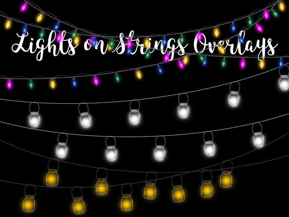 Lights On Strings Clip Art Overlays Transparent Png Files Etsy Overlays Transparent Photo Overlays Clip Art