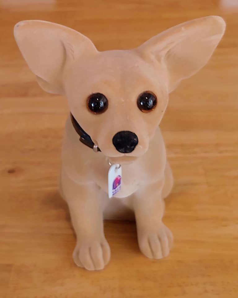 Vintage 1998 Yo Quiero Taco Bell Chihuahua Dog Bobble Head W Tag