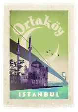 Vintage Istanbul Travel Poster A3//A2//A1 Print