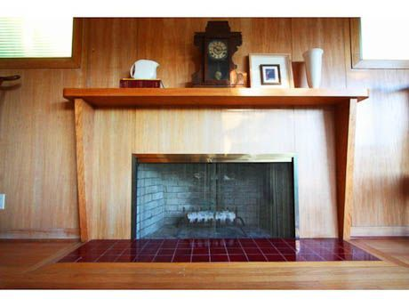 Mid Century Modern Fireplaces mid century modern fireplace mantel | fireplace makeover