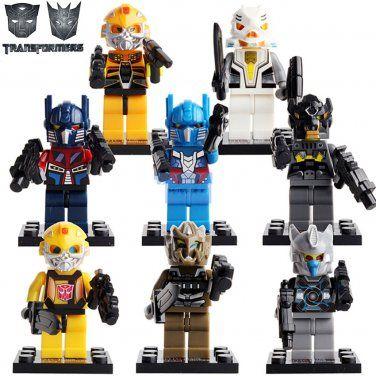 G1 Autobot Transformers 4x Minifigures Combine Into Superion Bricks Blocks Toys