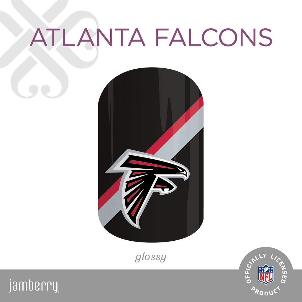 Nfl Collection By Jamberry Atlanta Falcons Atlanta Falcons Art Atlanta Falcons Crafts Jamberry