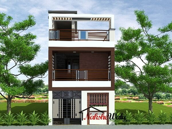 Small house elevations small house front view designs for Small duplex house