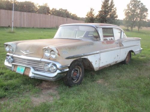1958 Chevrolet   Unrestored cars   1960 and earlier  mostly     1958 Chevrolet
