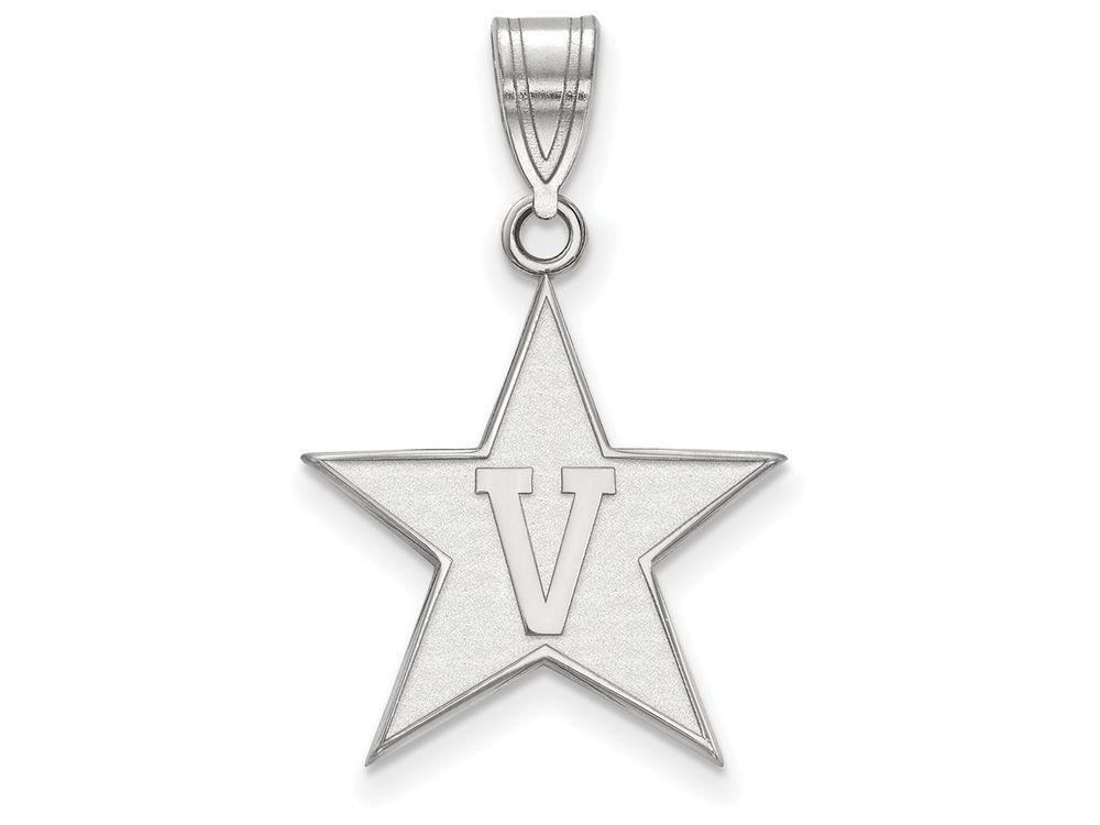 LogoArt Sterling Silver Vanderbilt University Large Pendant Necklace - Chain Included