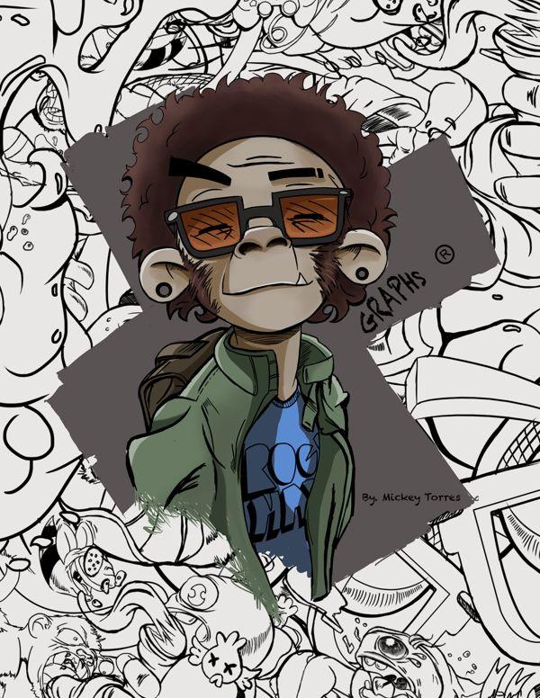 Graffiti Crazy Monkeys Graps By Mickey Torres Via Behance