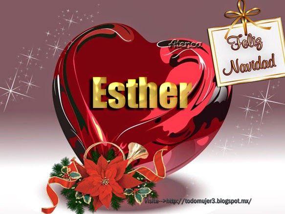 Todo Mujer Corazones De Navidad Con Nombres A F Maria Esther Leal